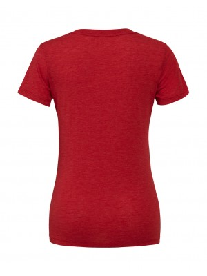 Women's Triblend Deep V-Neck T-Shirt