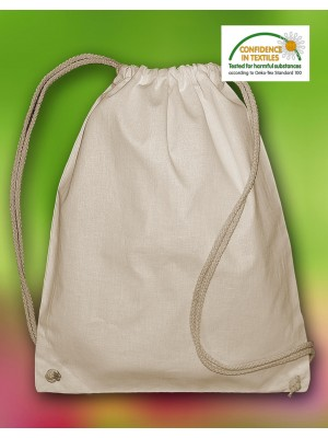 Pine Organic Cotton Drawstring Backpack