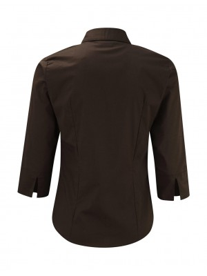 Ladies' 3/4 Sleeve Easy Care Fitted Shirt