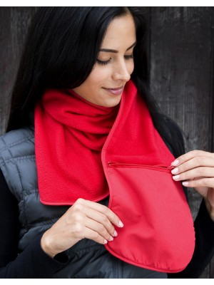 Fleece Scarf with Pocket