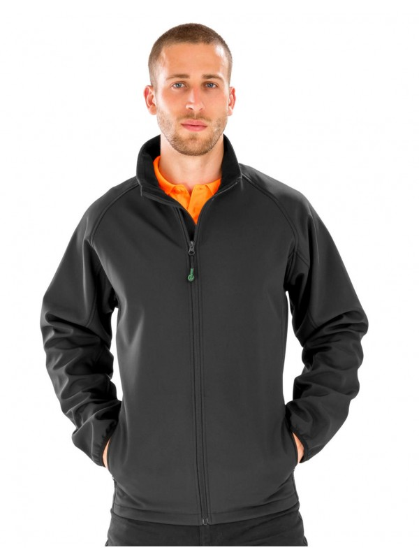 Men's Recycled 2-Layer Printable Softshell Jacket