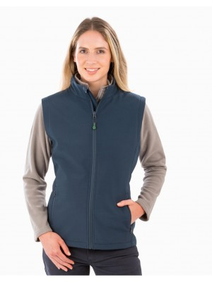 Women's Recycled 2-Layer Printable Softshell B/W